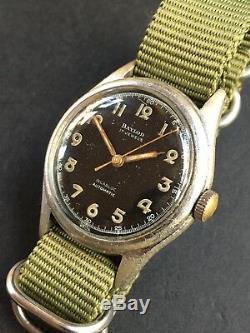 1940s Baylor Pare-Choc Automatique Style Militaire Montre Hommes