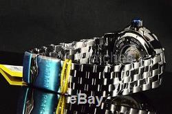25848 Invicta Homme Autoroute Turbine Automatique 52mm Blu Cadran Noir Bracelet