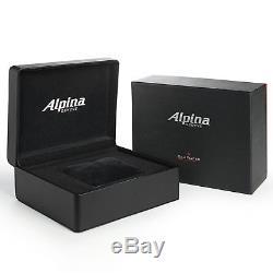 Alpina Homme 44mm Bracelet Cuir Noir Saphire Automatique Montre AL-525BS5AQ6