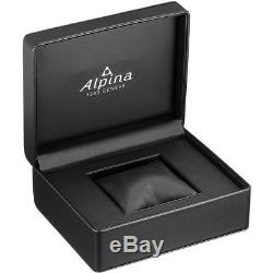 Alpina Homme 44mm Bracelet Cuir Noir Saphire Automatique Montre AL-525G4TS6