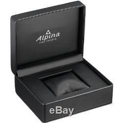 Alpina Homme 44mm Bracelet Cuir Noir Saphire Automatique Montre AL-860SCP4S6