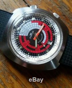 Ancienne montre de plongée suisse automatique compressor 1975