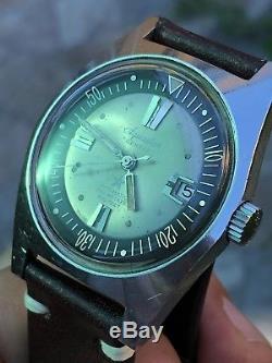Années 1960 Aquastar Geneve Automatique Vintage Hommes Plongeur Montre As 1701
