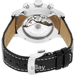 Baume & Mercier Capeland Homme 44mm Bracelet Cuir Automatique Montre 10065
