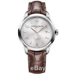 Baume & Mercier Clifton Homme 41mm Bracelet Cuir Automatique Montre 10054