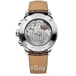 Baume & Mercier Clifton Homme 43mm Bracelet Cuir Automatique Montre 10129