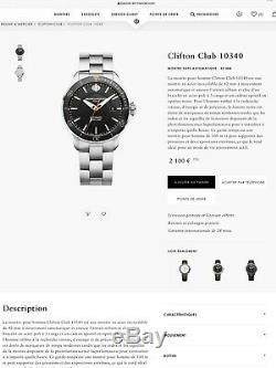 Baume et Mercier Clifton club montre homme automatique Omega boîte +papier 42mm