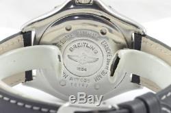 Breitling Colt Montre Automatique pour Homme A17035 avec Cuir Bande Rare 38MM