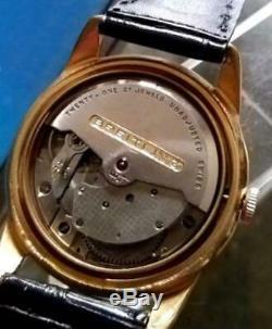 Breitling or Haut Noir Cadran Ss 594ms Vintage Manuel Automatique Montre Révisée