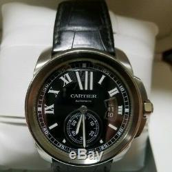 Cartier Calibre De Cartier W7100041 Acier 3299 Automatique 42MM Montre Utilisé