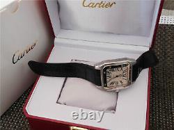 Cartier Santos 100 XL Automatique en acier inoxydable Montre Homme 100% Authenti