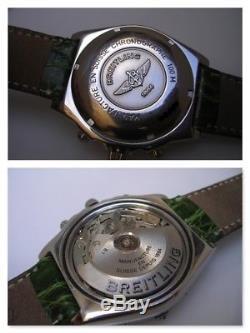 Chronographe Breitling Chronomat A13050 Balai Cadran Automatique Montre Hommes