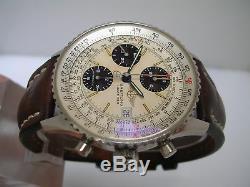 Chronographe Breitling Old Navitimer II A13020 Acier Automatique Montre Hommes