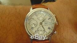 Chronographe suisse automatique homme WYLER VETTA ETA-VALJOUX 7750 boite papiers