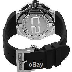 Concord Homme 43mm Bracelet Caoutchouc Noir Saphire Automatique Montre 0320188