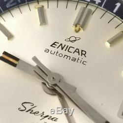 Enicar Sherpa Jet 126/002 Automatique Automatique Vintage Montre 597ms Révisée