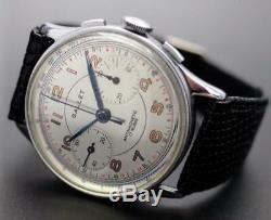 Gallet Chronographe Arabique Numéral Index Main Automatique Vintage Montre 594ms
