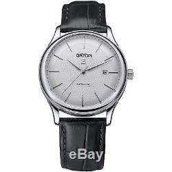 Gryon Homme 42mm Bracelet Cuir Noir Automatique Analogique Montre G 253.11.33