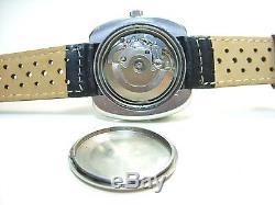 Herbelin Superbe Montre Vintage Acier Automatique Annees 1970's Watch Eta 2784