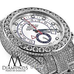 Homme Diamant Rolex Montre Yacht-Master II Cadran Blanc Automatique 116680