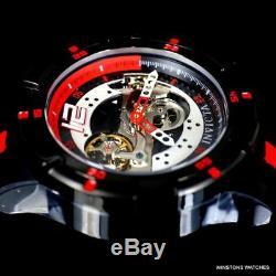 Hommes Invicta S1 Rally Coureur Mouvement Squelette Rouge Noir Automatique 50mm