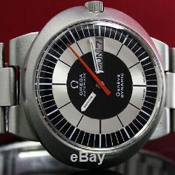 Hommes OMEGA Dynamic Automatique Jour Date 1970s Rétro Acier Montre Avec Brcelet