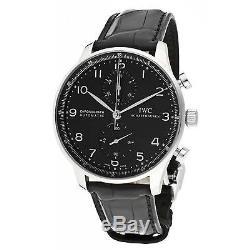 Iwc Portugieser Homme Bracelet Cuir Noir Saphire Automatique Montre Iw371447