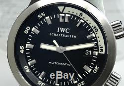 Iwc Aquatimer IW354805 MONTRE HOMME Cadran Noir Automatique Garanti Cz4698