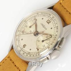 LEMANIA Chronographe cal. 27CH Manuel Automatique Vintage Montre 594ms Révisée