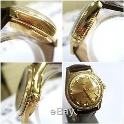 LONGINES CONQUEST OR JAUNE18k YELOW GOLD AUTOMATIQUE, calandar collection vintage