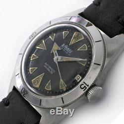 Le Phare Peau Plongeur 698601 Automatique Vintage Montre 597ms Révisée