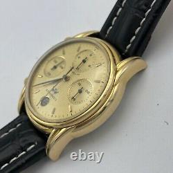 Longines Hommes Suisse Montre Chronographe Automatique Vintage Acier L4.661.2 Or