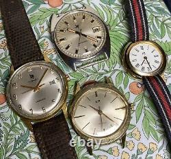 Lot 4 Montres Ancienne Vintage Watch Lip Electronic Mecanique Automatique