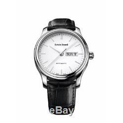 Louis Erard Homme 40mm Bracelet Cuir Noir Automatique Montre 72268aa10. Bdc02