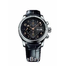 Louis Erard Homme 40mm Bracelet Cuir Noir Automatique Montre 78269aa02. Bdc02