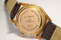 Montre Ancienne Baume & Mercier Geneve Automatique En Or Rose 18k Vintage Watch