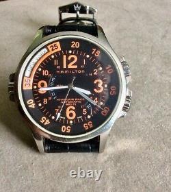 MONTRE HAMILTON KHAKI AIR RACE AUTOMATIQUE GMT 660Fi H776650