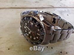 MONTRE HOMME AUTOMATIQUE PARNIS GMT Rolex Look NEUVE Livraison sous 48h