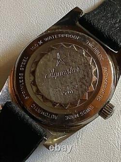 MONTRE HOMME VINTAGE SUISSE AUTOMATIQUE AQUASTAR Montre de plongée 1701