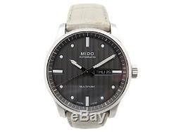Montre Mido Multifort M005.430 Automatique 42 MM Acier Homme + Boite Watch 680