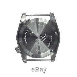 MWC 1000mt Automatique Acier Noir Saphir Date Céramique Gris Tissu Montre Homme