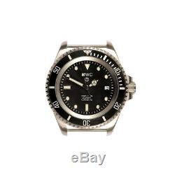 MWC 24 Jewels 300m Acier Noir Automatique Tissu Diver Sapphire Date Montre Homme