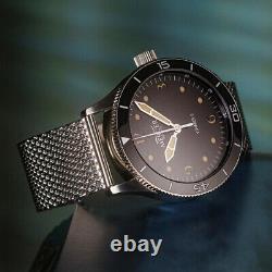 Mercer Voyager II Ocean Black Automatique Acier Noir Montre Homme