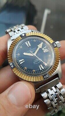 Michel herbelin montre vintage sous marine 300 m. Diver automatique acier 1970