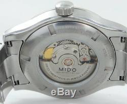 Mido Multifort Automatique Daydate Saphir Montre Homme en Acier Inoxydable Boîte