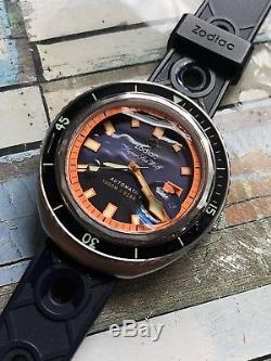 Mint! 2015 Zodiac Seawolf 68 1000m Fabriqué en Suisse Automatique Hommes