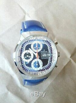Montre AROLA chronographe automatique Valjoux 7750 vintage