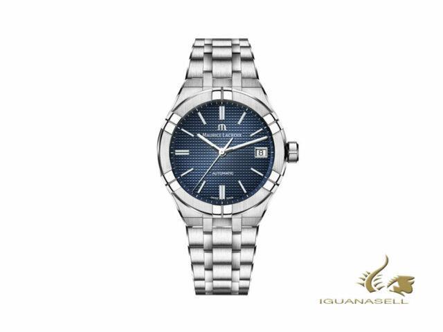 Montre Automatique Maurice Lacroix Aikon, 39 Mm, Bleu, Bracelet En Acier