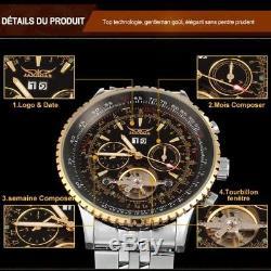 Montre Automatique de Luxe Tourbillon Jaragar Original Top Marque homme PROMO