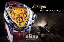 Montre Automatique sport racing Rétro Jaragar Original homme TOP MARQUE